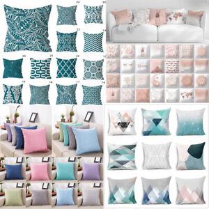 Hot European Blue Green Pillowcase Printing Soft Sofa Cushion Cover Home Decor