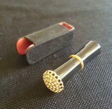 Vintage REVLON 585 Gold Tone Empty Lipstick Tube Rhinestones w/ holder