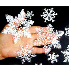 57 Reusable White Christmas Snowflakes Window Sticker Clings Decorations Latest