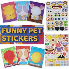 Stickers Fun PET Sticker Pets Child Sheets Dogs Cartoon Sheet Eyes Mouth Animal