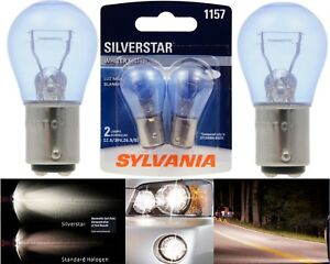 Sylvania Silverstar 1157 26.9/8.3W Two Bulbs Front Turn Signal Light Upgrade OE