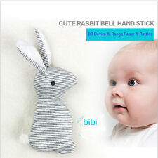 Baby Boy Cute Soft Rabbit Bell Hand Stick Toy Kids Smooth Bunny With Rattles Z