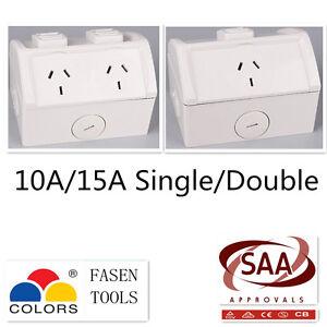 Weatherproof Waterproof Double/Single Power Point 10A/15A  Socket Outlet