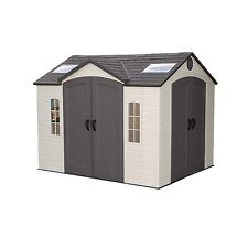 Commercial Storage Shed 10'W x 8'D - Dual Entry - Shatter Proof Windows - Garden