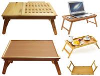 Wooden Lap Tray Table Serving Breakfast Desk Laptop TV Sofa Bed Table Folding