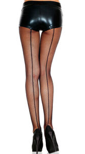 One Size Fits Most Womens Fishnet Pantyhose With Backseam, Fishnet Stockings
