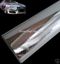 1.52 mx600mm Plata Espejo Cromado Envolver Vinilo Burbujas Gratis Sticky Trasera De Plástico