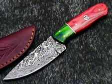 "Beautiful Handmade Damascus Steel Blade 8.0"" Hard  WOOD - Hunting Knife WD-8885"