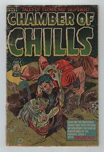 Pre-Code Horror 1952 CHAMBER OF CHILLS No. 13 FR/GD 1.5 Decapitation Panel