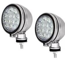 """2 X CAR SPOTLIGHT 6"""" WHITE LED CHROME HALOGEN FOG SPOT LIGHTS 12V 55W CAR VAN"""