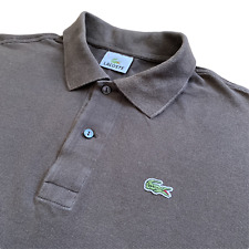 Vintage LACOSTE Polo Shirt | Size 6 (XL) | Khaki Brown Classic Short Sleeve