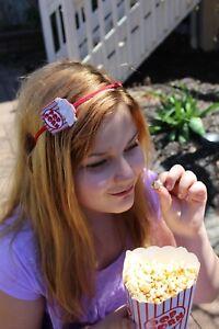 Kids Fun Popcorn Movies Film AMC Red White Hair Headband Hair Accessory