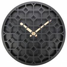 Boyle NeXtime Modern Indoor Stylish Wall Clock Discrete - Black