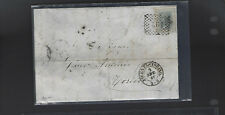 Italy-Classic Older-Cover-Folded Envelope-186?-Torino -#2015