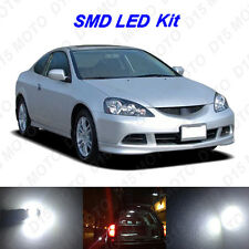6x Ultra White LED Interior Bulbs + License Plate Lights for 2002-2006 Acura RSX
