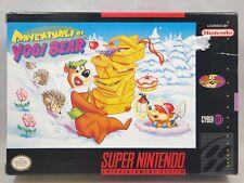 Adventures of Yogi Bear (Super Nintendo   SNES) Authentic BOX ONLY
