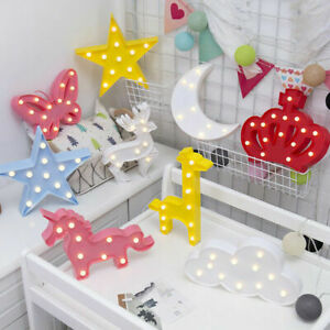 3D LED Night Light Wall Lamp Kids Baby Bedroom Table Desk Lamp Christmas Gift UK