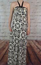 NEW NEXT UK 8 FLEUR PRINT LADIES HALTER MAXI DRESS