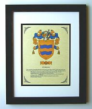 HERALDRY COAT OF ARMS ~ RIOS FAMILY CREST ~ FRAMED
