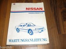 NISSAN BLUEBIRD T12 ab 1985 Motor Getriebe Karosserie General WERKSTATT HANDBUCH
