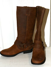 New DISPLAY- Kenneth Cole Moto Cross leather Buckle Boots 5.5 $329 if NIB