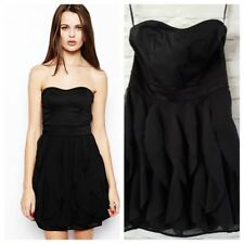 FRENCH CONNECTION BLACK RUFFLE  DRESS  SIZE UK 10 BNWT XMAS PARTY