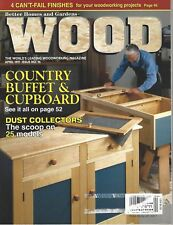 Wood Magazine #96 April 1997 country buffet & cupboard, pattern for turned table