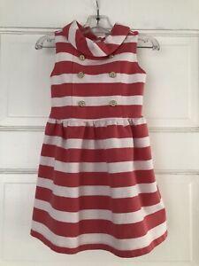 JANIE & JACK rose stripe cotton blend knit slvless dress toddler girl sz 3T NWOT