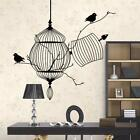 3D Black Bird Cage Tree Branch Wall Sticker Decal Vinyl Art Home Decor