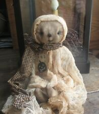 New ListingPrimitive Aged Ghost Doll Cheesecloth Halloween Fall Autumn Decoration Cute!