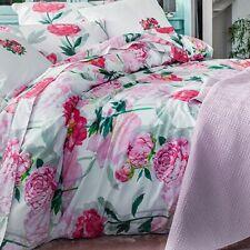 ANNE DE SOLENE PARIS LEONIE KING DUVET COVER SET 2 SHAM PINK PEONY ROSE FLOWER