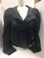 Lanvin Jacket Black Bomber Lambskin Size 36(small To Med) Fit