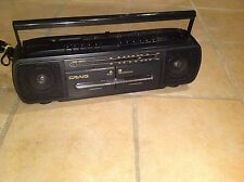 Vintage Craig RC201 AM/FM Stereo Radio Cassette Recorder Boombox (Black)