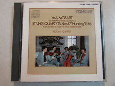 W.A.MOZART STRING QUARTETS NOS 17 HUNTING & 16 1985 JAPAN DENON CD SMOOTH CASE
