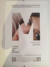 MARTHA MARCY MAY MARLENE ex 13.5x20 PROMO MOVIE POSTER