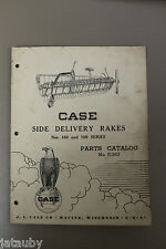 CASE SIDE DELIVERY RAKES - Nos. 168/169 Servies Parts Catalog No. E383