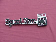 1977-78 Chevy Sport Van G20 fender emblem, NOS! 363584
