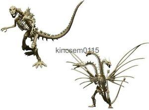 Godzilla Skeleton Bone Godzilla King Ghidorah Figure Bone Color Set Capsule Toy