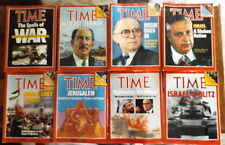 Lot 8 Time Magazines Middle East Wars Jerusalem Israel Arafat Sadat Begin Sharon