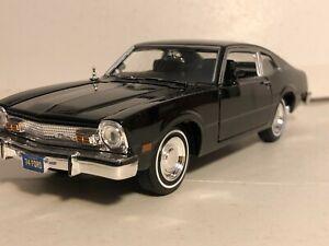 MOTORMAX 1974 FORD MAVERICK BLACK 1:24 DIECAST MODEL CAR NEW NO BOX