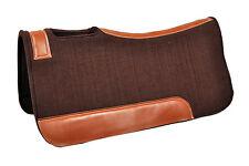 Western Brown Wool Felt Saddle Pad 32 x 32