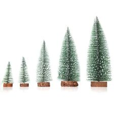 Artificial Christmas Trees Holiday Gift Seasonal Ornaments White Snow Green Tree