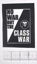CLASS WAR DIY Crust Punk Patch - Avskum Disrupt Dropdead Resist Anarcho D-Beat