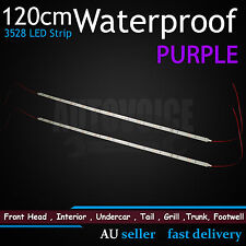 2 x 1.2M Purple/Pink Waterproof Flexible LED Strip Light 12V Car SUV UTE Offroad
