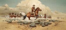 """""""Under Attack"""" Frank McCarthy Masterworks Western Art Giclee Canvas"""