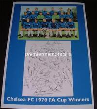 CHELSEA FC 1970 FA CUP SIGNED (PRINTED) PETER BONETTI PETER OSGOOD ALAN HUDSON