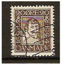 Denmark - 1924, 20 ore Brown, King Christian IV stamp - G/U - SG 220B