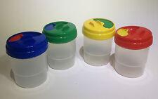 Kids Safety Paint Pots x 4, Childrens paint storage pots, anti spill paint pots