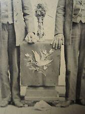 ANTIQUE AMERICAN PA DUTCH STYLE FOLK ART SEA SHELL CHAIR PAINTING TINTYPE PHOTO