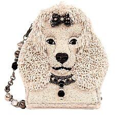 Mary Frances Fifi Poodle Dog White Puppy Beaded Purse Bag Handbag NEW Pre July